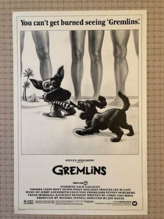 Gremlins 1984 Ss Theatrical Advance Poster 27 X 41