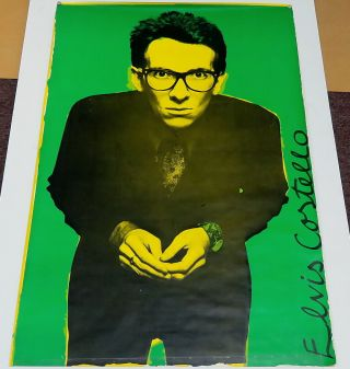 "Vintage Elvis Costello Stiff Tour 1977 Uk Poster Barney Bubbles 40 "" X 60 "" Rare"