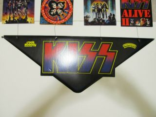 Extremely Rare KISS 1977 Alive 2 Hanging Mobile.  Aucoin.  Promotional Display 5