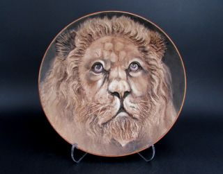"""10.  5 """" Blown Out Nippon Lion Plaque Plate Noritake Ex Cond High Relief No Res"""