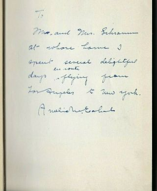 Amelia Earhart Signed And Inscribed Book 20 Hours 40 Minutes 1st Edition 1928