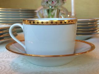 """Tiffany """"gold Band"""" Formal Dinnerware,  Gold - Rimmed Fine China,  Limoges France"""