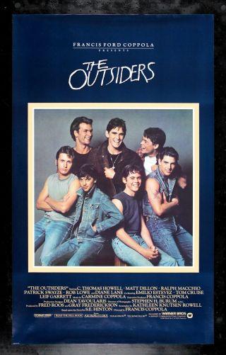 The Outsiders Cinemasterpieces 1sh Rare Vintage Movie Poster 1982