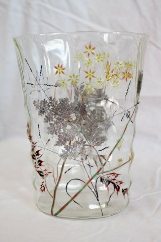Emile Galle Crystal Vase - Ecole De Nancy