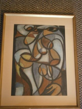 Jens Jensen - Oil On Paper.  Signed And In Frame,  Plus Poem.