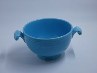 Fiesta Turquoise Covered Onion Soup Bowl.  VERY RARE 2