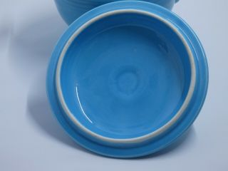 Fiesta Turquoise Covered Onion Soup Bowl.  VERY RARE 3
