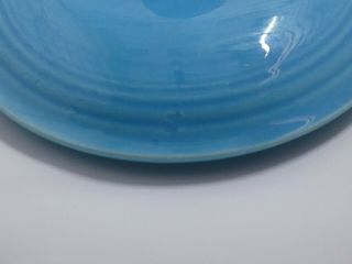 Fiesta Turquoise Covered Onion Soup Bowl.  VERY RARE 8