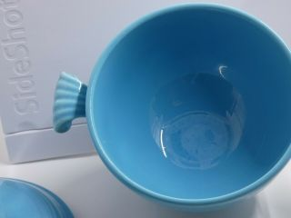 Fiesta Turquoise Covered Onion Soup Bowl.  VERY RARE 9