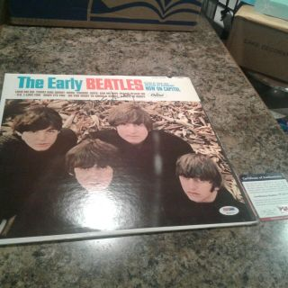 Paul Mccartney The Early Beatles Authentic Signed Album Cover Psa P12173