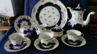 Antique Tea/coffee Meissen Tea Set