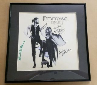Fleetwood Mac - Rumors Fully Signed Album Stevie,  Mick,  Christine,  Lindsey,  John