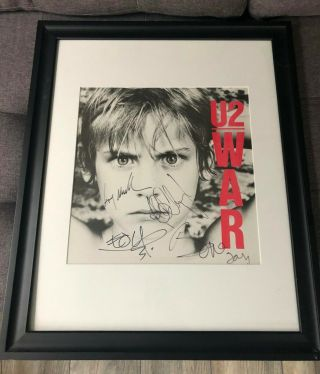 U2 // Framed Autographed War Album By Entire Band - Authentic & From Me