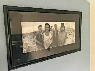 U2 // Framed Autographed Joshua Tree Album By Entire Band - Authentic & From Me