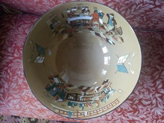 Antique Deldare Ware Buffalo Pottery Punch Bowl 1909 Fallowfield Hunt 3