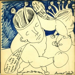 Daniel Johnston - Artwork Album Size - Signed And Framed