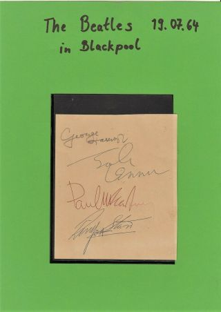 Authentic Beatles Autograph 1964 / All Members / Personally Collected