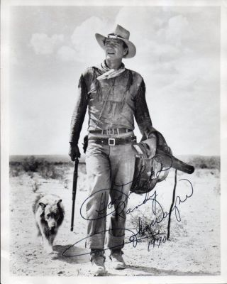 John Wayne Autograph Photo - 8x10 From The Western Film Hondo.  Very Nicely Signed