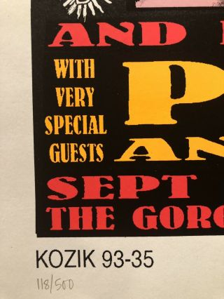 Frank Kozik - 1993 - Pearl Jam Neil Young Concert Poster S/N 1st Printing 2