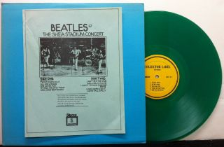 Beatles Shea Stadium 5d Green Vinyl Non Tmoq Lp