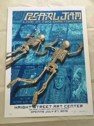 Pearl Jam Live In Two Dimensions Opening And Closing Posters Emek S/n Haight