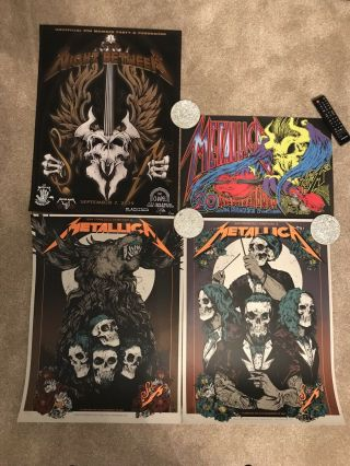 Metallica S&m2 Night 1 & 2 Posters,  Night Between,  Squindo 6th & 8th Sept 2019