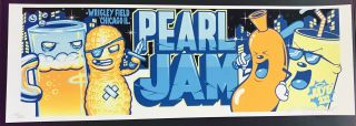 Pearl Jam Concert Poster - Signed Munk One 101/200 - Wrigley 7.  19.  13