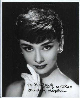 Audrey Hepburn Signed 8 X 10 Photo Autographed Guaranteed Authentic