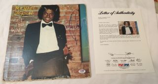 Michael Jackson Off The Wall Signed Album 1979 King Of Pop Autograph Psa/dna