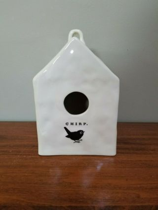 Rare Chirp Square Birdhouse Rae Dunn By Magenta Ftd