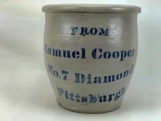 From Samuel Cooper Pittsburgh Decorated Crock.