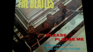 Beatles: Please Please Me,  Signed By All Four 1st Press Gold Mono