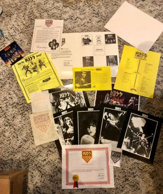 Rare 1st Kiss Army Kit 1975 1976 Aucoin Vintage Alive Poster Photo Set