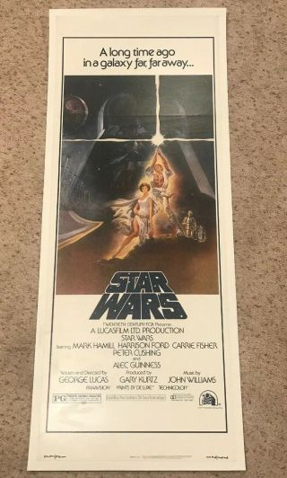 Vintage 1977 Star Wars Style A Insert Poster 36x14 1st Edition 77 - 21