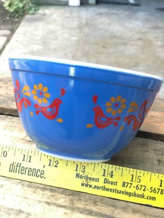 Rare Vintage Pyrex Friendship Mixing Bowl BLUE 401 1.  5 Pint Error Piece Promo 3