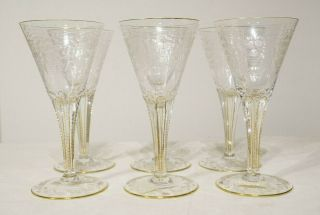 Moser Crystal Maharani Set Of 6 Goblet Red White Wine 8.  5 ""