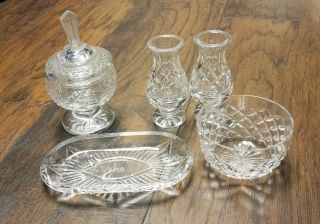 Rare Vintage 5 Piece Waterford Crystal Communion Eucharist Ihs Set Euc