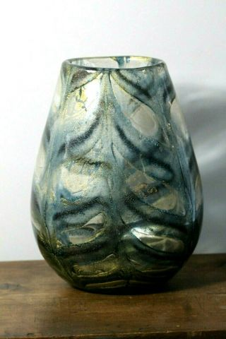 Large Vintage Mid 20thc Barovier & Toso Garfito Murano Art Glass Vase