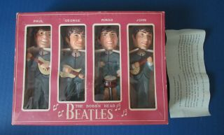 "Beatles Great Set Of 1964 8 "" Nodder Dolls Still In The Box W Sheet"