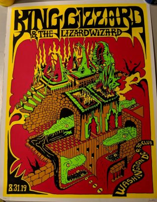 King Gizzard And The Wizard Lizard Washington D.  C.  Poster Lim Ed 6/100
