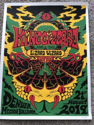 King Gizzard And The Lizard Wizard Denver Poster