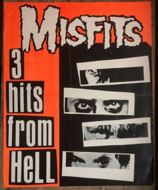 Misfits Poster 3 Hits From Hell 1981
