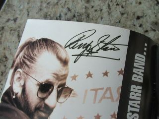 Beatles Stunning Ringo Starr & Band Signed 1989 U.  S.  Tour Program Full Name