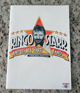 Beatles STUNNING RINGO STARR & BAND SIGNED 1989 U.  S.  TOUR PROGRAM FULL NAME 2
