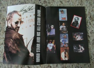 Beatles STUNNING RINGO STARR & BAND SIGNED 1989 U.  S.  TOUR PROGRAM FULL NAME 3