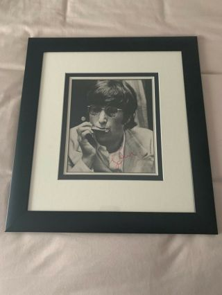 Beatles 1967 John Lennon Signed Photograph Tracks And Caiazzo Coas Autograph Nr