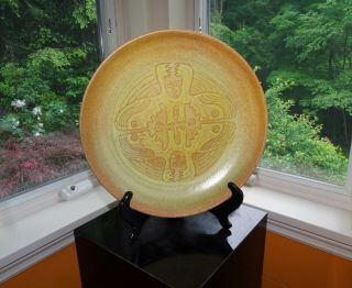 Edwin & Mary Scheier / Large Mid - Century Figural Bowl