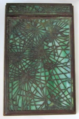 Antique Tiffany Studios York Bronze Fraville Pine Needle Pattern Notepad