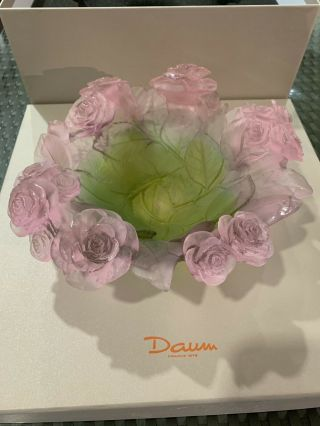 Daum Crystal Roses Bowl (coupe) X01672 $1,  930 (msrp)