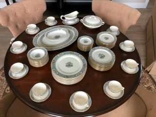 Lenox Autumn 72 Piece Set Service For 12 Gold Marked